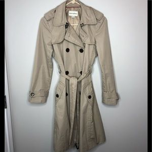Banana Republic double breasted, belted trench